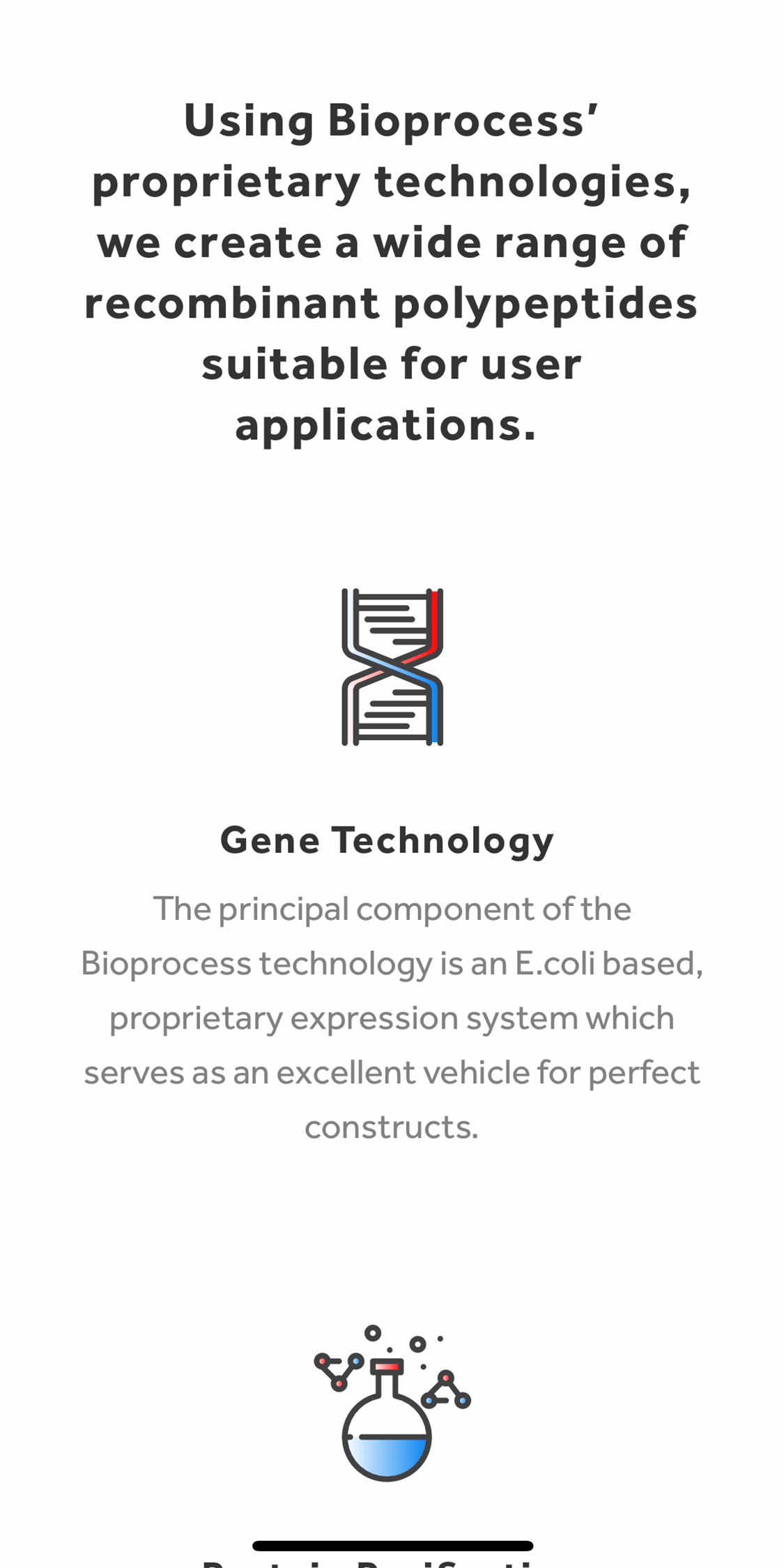 Bioprocess Mobile Website Design