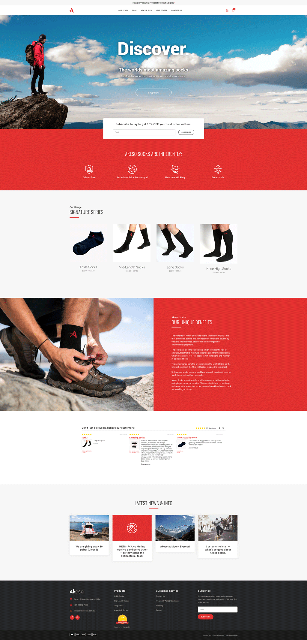 Akeso Socks Website Design