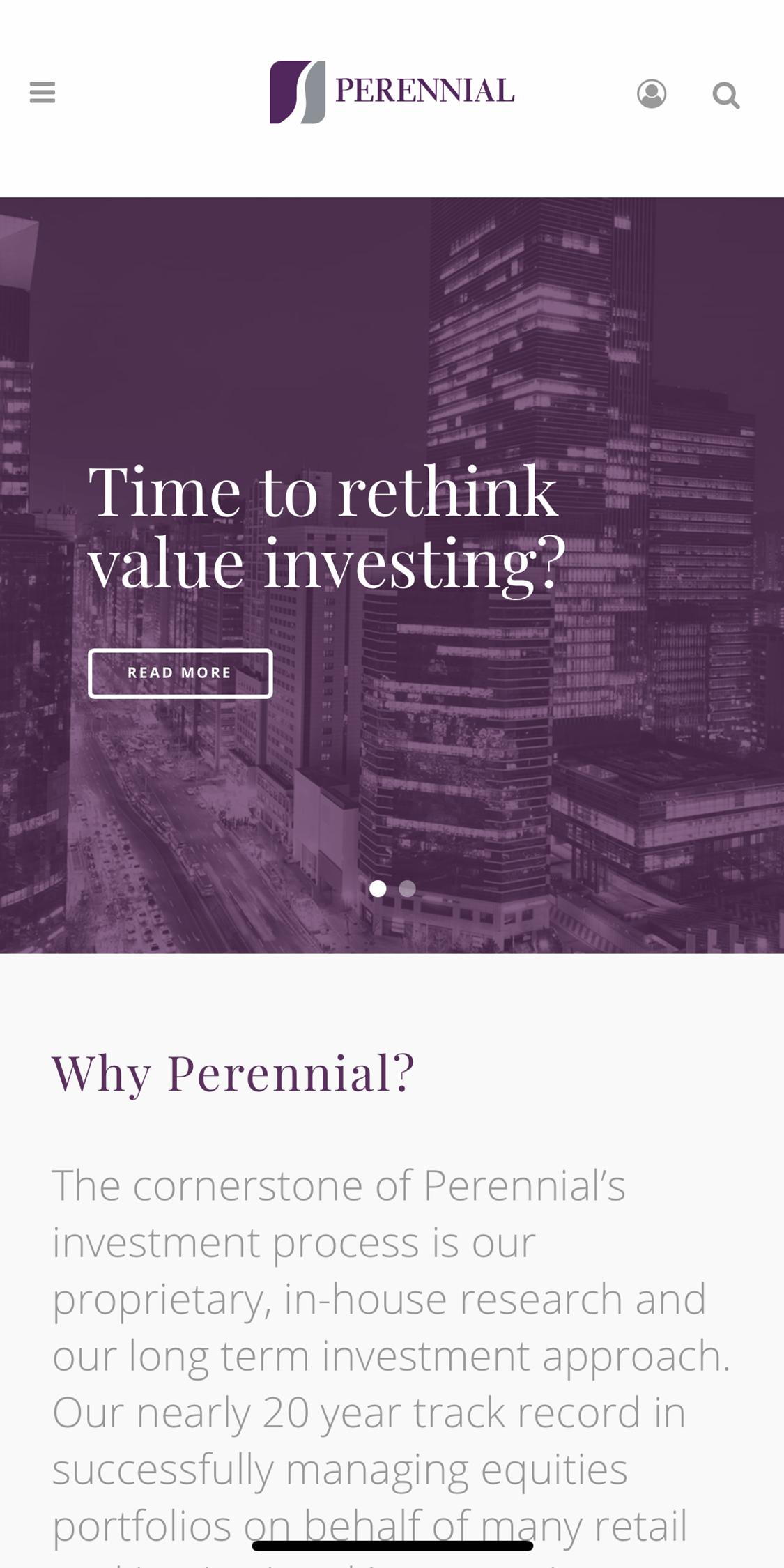 Perennial Mobile Website Design