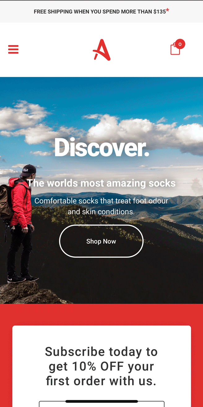 Akeso Socks Mobile Website Design